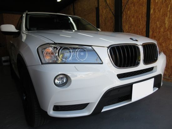 BMWX3へこみ修理依頼
